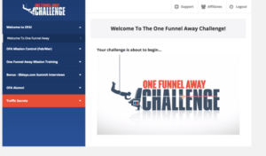 the one funnel away challenge members area